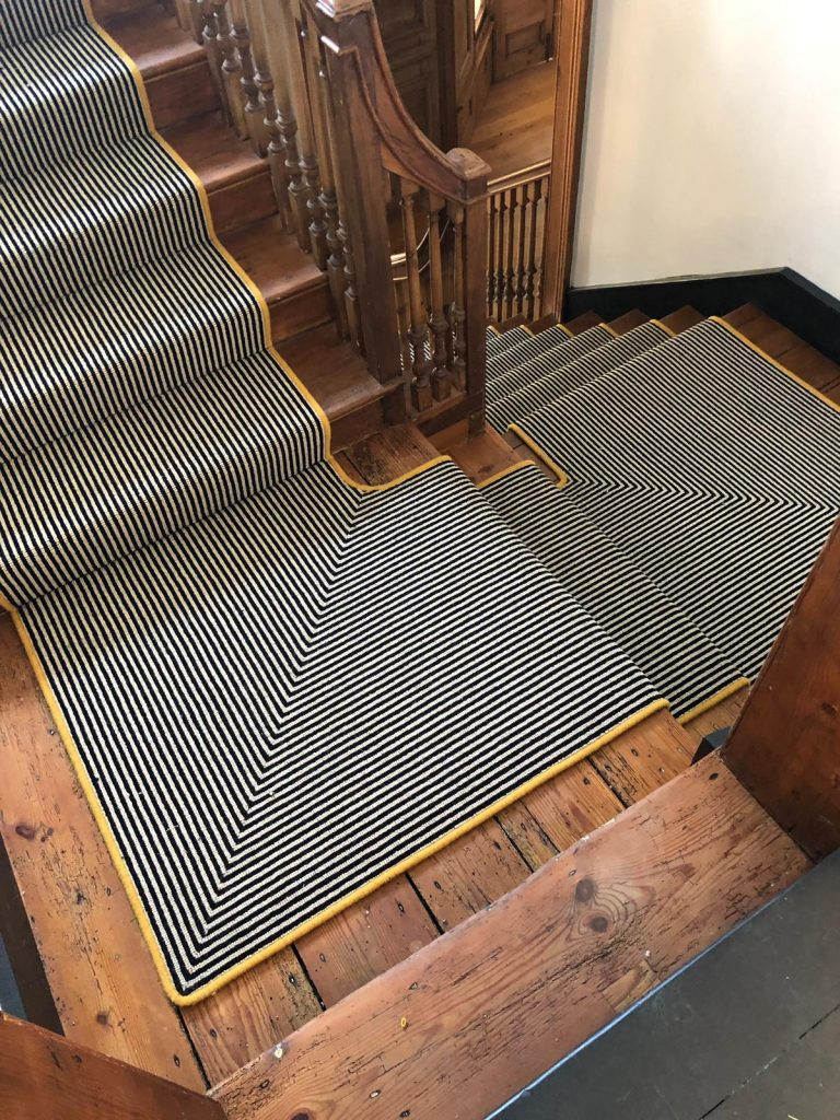 Stripe Staircase Carpet | Shipton by Beningbrough | Floorstore