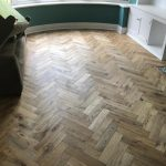 Worn Oak Herringbone Wood Flooring - Lounge Harrogate | Floorstore