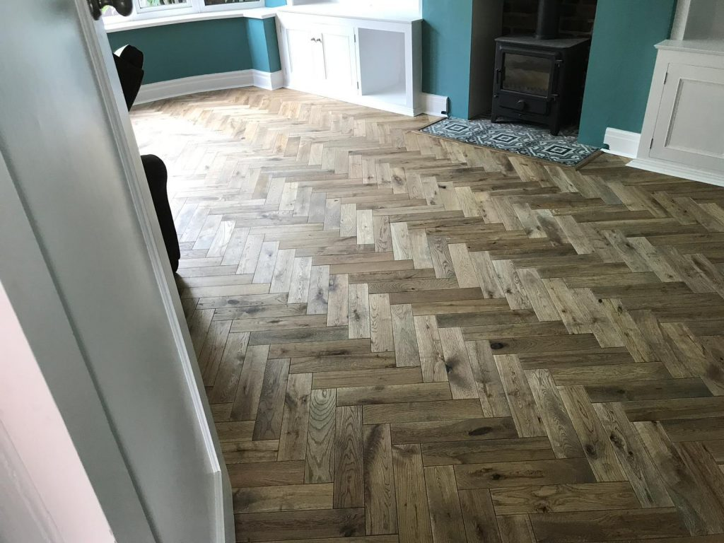 Worn Oak Parquet Wood Flooring | Harrogate | Floorstore