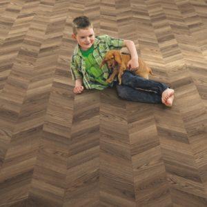 Elka 8mm Chevron Design Storm Oak   Laminate Flooring   Floorstore