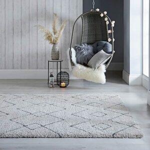 Dakari Imari Cream & Dark Grey | Designer Rug | Living Room