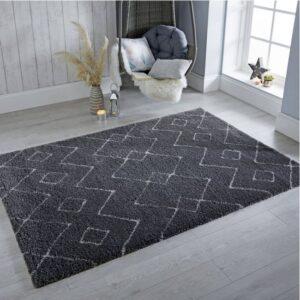 Dakari Imari Grey & White | Designer Rug | Lounge